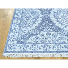 Load image into Gallery viewer, 9'x12' Handmade Genuine Cotton Agra Moughal Design Ivory Oriental Rug FWR207978