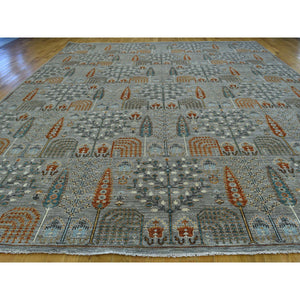 "12'1""x15'5"" Peshawar Willow And Cypress Tree Design Handmade Oversize Rug FWR208236"