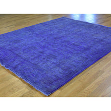 "Load image into Gallery viewer, 6'8""x8'2"" Overdyed Ikat 100 Percent Wool Hand-Knotted Oriental Rug FWR208548"