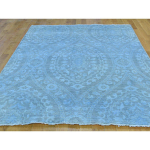 "5'1""x7'2"" Hand-Knotted Overdyed Ikat With Moughal Design Oriental Rug FWR208632"