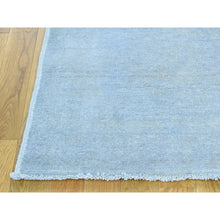 "Load image into Gallery viewer, 2'7""x9'10"" Hand-Knotted Silver Wash Peshawar Pure Wool Runner Rug FWR209274"
