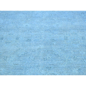 "5'10""x9'2"" Hand-Knotted Peshawar Overdyed Pure Wool Oriental Rug FWR210018"