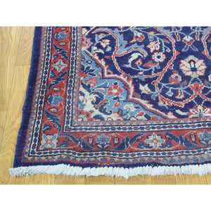 "3'8""x13'4"" Hand-Knotted Persian Mahal Wide Runner Oriental Rug FWR210114"