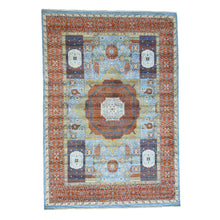 Load image into Gallery viewer, Handmade Oushak And Peshawar Blue Rug