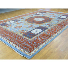 "Load image into Gallery viewer, 10'1""x14'5"" Hand-Knotted Mamluk Design Peshawar Pure Wool Oriental Rug FWR210174"