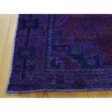 "Load image into Gallery viewer, 4'1""x7'7"" Handmade Overdyed Persian Hamadan Vintage Wide Runner Rug FWR210414"