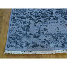 "Load image into Gallery viewer, 3'1""x7'9"" Hand Knotted Modern Broken Design Wool And Silk Runner Rug FWR213390"