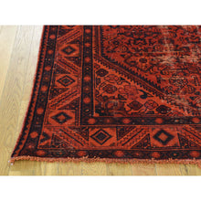 "Load image into Gallery viewer, 5'x9'5"" Handmade Overdyed Persian Hussainabad Vintage Wide Runner Rug FWR214080"