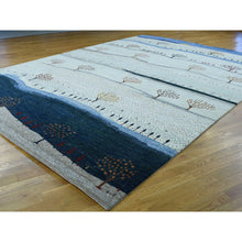 "Load image into Gallery viewer, 9'9""x14' Hand-Knotted Modern Folk Art Gabbeh Persian Wool Oriental Rug FWR214674"