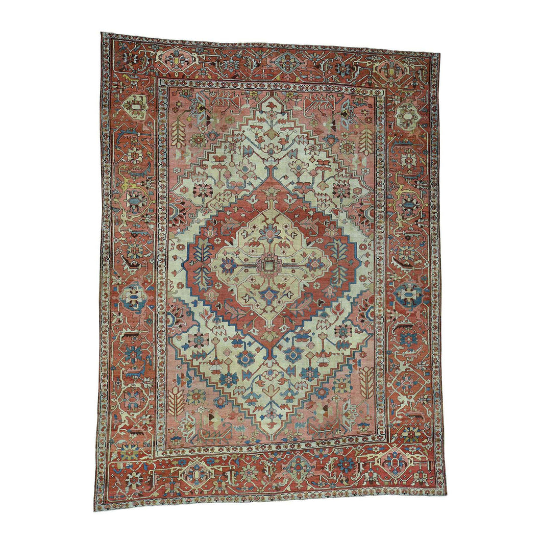 Handmade Antique Pink Rug