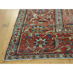 "9'7""x12'4"" Good Condition Antique Persian Serapi Hand-Knotted Rug FWR215652"