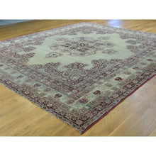 "Load image into Gallery viewer, 10'9""x12' Antique Lavar Kerman with Natural Cranberry Dyes Oriental Rug FWR216360"