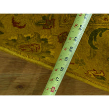 "Load image into Gallery viewer, 8'2""x10'1"" Pure Wool Hand-Knotted Overdyed Golden Brown Oriental Rug FWR216510"