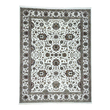 Load image into Gallery viewer, Handmade Wool and Silk Ivory Rug