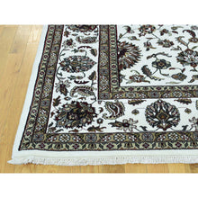 "Load image into Gallery viewer, 9'x11'10"" Wool and Silk Hand-Knotted 250 KPSI Indo Persian Kashan Oriental Rug FWR216930"