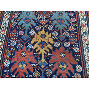 "3'5""x12'9"" Full Pile Antique Mint Condition Northwest Persian Wide Runner FWR217602"