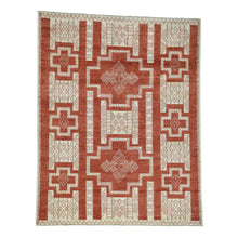 Load image into Gallery viewer, Handmade Oushak And Peshawar Red Rug