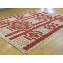 "Load image into Gallery viewer, 8'1""x10' Pure Wool Hand-Knotted Peshawar with Southwestern Motifs Rug FWR218928"