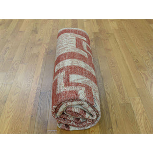 "8'1""x10' Pure Wool Hand-Knotted Peshawar with Southwestern Motifs Rug FWR218928"