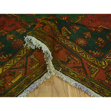 "Load image into Gallery viewer, 4'6""x6'5"" Overdyed Persian Hamadan Vintage Pure Wool Handmade Oriental Rug FWR219120"