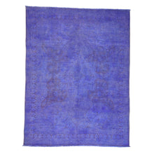 Load image into Gallery viewer, Handmade Overdyed and Vintage Purple Rug