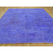 "Load image into Gallery viewer, 7'10""x10'3"" Overdyed Peshawar Hand-Knotted Pure Wool Oriental Rug FWR219222"
