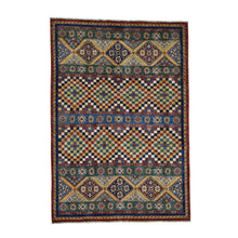 Load image into Gallery viewer, Handmade Kazak Multicolored Rug