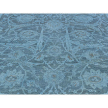 "Load image into Gallery viewer, 5'9""x9' Silver Wash Peshawar Hand-Knotted Pure Wool Oriental Rug FWR220218"