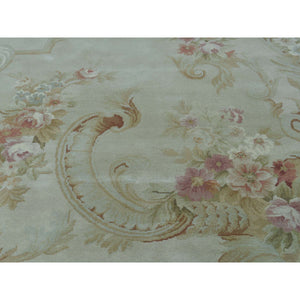 8'x10' Charles X Design European Savonnerie Thick And Plush Rug FWR221454