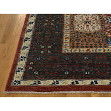 "Load image into Gallery viewer, 8'1""x10' Peshawar with Mamluk Design Hand-Knotted Pure Wool Oriental Rug FWR221610"