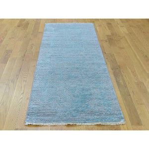 2'6''x10' Broken Persian Design Hand-Knotted Wool and Silk Runner Rug FWR223938
