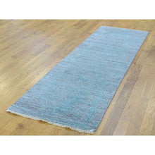 Load image into Gallery viewer, 2'6''x10' Broken Persian Design Hand-Knotted Wool and Silk Runner Rug FWR223938