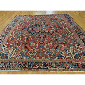 8'6''x11'7'' Antique Persian Heriz Handmade Mint Condition Oriental Rug FWR224562