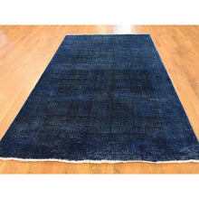 Load image into Gallery viewer, 5'2''x9'3'' Overdyed Persian Tabriz Vintage Handmade Wide Runner Rug FWR225816