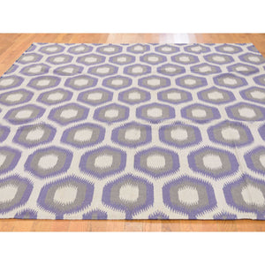 8'10''x12'2'' Durie Kilim Flat Weave Hand Woven Reversible Pure Wool Rug FWR227274