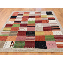 Load image into Gallery viewer, 5'8''x8' Persian Wool Hand-Made Lori Buft Gabbeh Patchwork Design Rug FWR228708