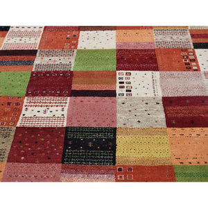 5'8''x8' Persian Wool Hand-Made Lori Buft Gabbeh Patchwork Design Rug FWR228708