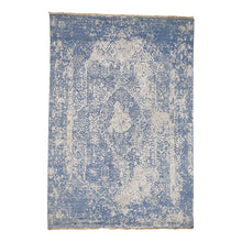 Load image into Gallery viewer, Handmade Modern and Contemporary Blue Rug