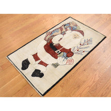 Load image into Gallery viewer, 2'3''x3'10'' Hand-Knotted Pure Wool Santa Claus Peshawar Quality Rug FWR229518