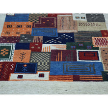 Load image into Gallery viewer, 2'x3' Hand-Knotted Lori Buft Gabbeh 100 Percent Wool Oriental Rug FWR230988