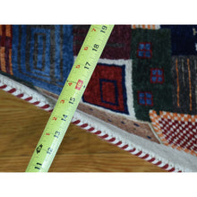 Load image into Gallery viewer, 2'x3'1'' Hand-Knotted Persian Wool Lori Buft Gabbeh Patchwork Design Rug FWR231150