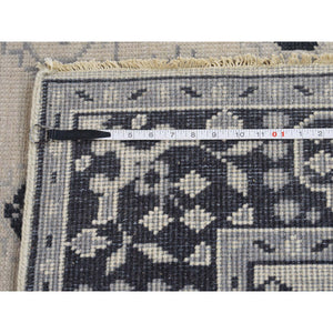 5'1''x7'1'' Hand-Knotted Turkish Knot Oushak Ivory Pure Wool Oriental Rug FWR231168
