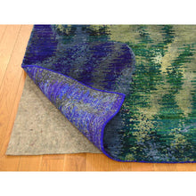 Load image into Gallery viewer, 5'x7' Hand Knotted Multicolored Sari Silk Abstract Design Oriental Rug FWR232320
