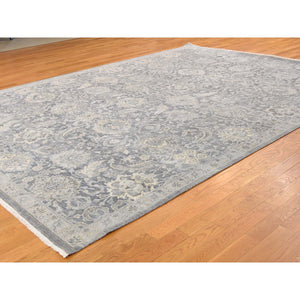 9'x12'2'' Silk With Textured Wool Hand Knotted Oushak Influence Oriental Rug FWR232362