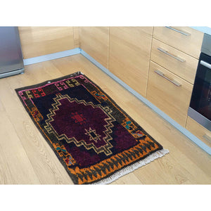 "1'8""x1'8"" Square Persian Shiraz Bag Face Pure Wool Hand Knotted Oriental Rug FWR235818"