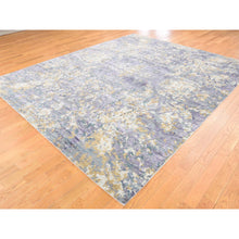 "Load image into Gallery viewer, 8'x9'10"" Abstract Design Wool and Silk Hi-Lo Pile Hand-Knotted Rug FWR237300"