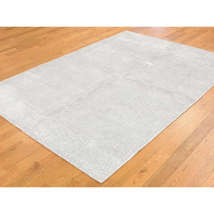 5'x7' Tone on Tone Hand-Loomed Pure Wool Oriental Rug FWR238998