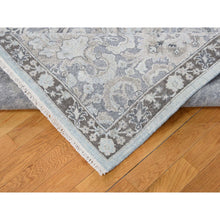 "Load image into Gallery viewer, 9'1""x12'5"" Hand-Knotted Flat Weave with Raised Silk Oriental Rug FWR239784"