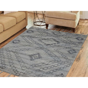 "5'4""x7'6"" Moroccan Berber Thick and Plush 100 Percent Wool Hand-Knotted Oriental Rug FWR240000"