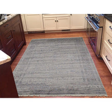 "Load image into Gallery viewer, 5'10""x8'1"" Wool and Silk Agra Broken Design Hand-Knotted Oriental Rug FWR240030"